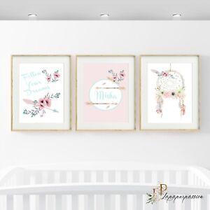 S Boho Wall Prints Nursery