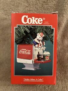 """Coca Cola Enesco Christmas Ornament """"Make Mine A Coke"""""""
