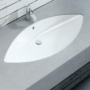 Lavabo incasso bagno 82cm design moderno sottopiano in for Lavandino design