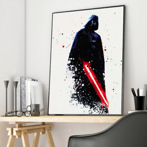 Watercolor-Star-Wars-Darth-Vader-Movie-Canvas-Poster-Art-Print-Wall-Home-Decor