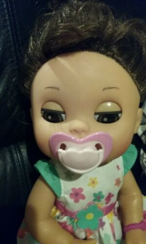 BABY ALIVE REFILL Pk 8 FOOD 8 DIAPERS ZEBRA BOTTLE /& HEART PACI NO DOLL
