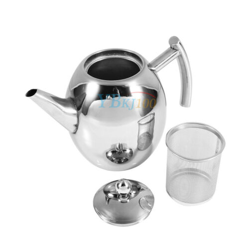Filter Infuser Strainer New 1000//1500ML Stainless Steel Teapot Tea Pot Coffee