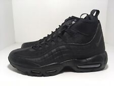 Nike Air Max 95 Winter Sneakerboot Triple Black 806809 002 Men's Snow Boots Sneakers 806809 002