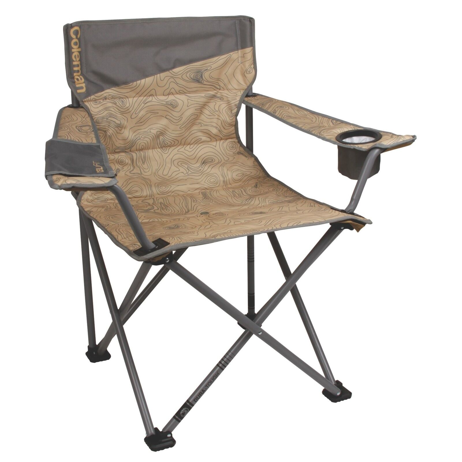 Oversized Quad Camping Chair Portable Outdoor Folding  Seat with Phone Sleeve  supply quality product