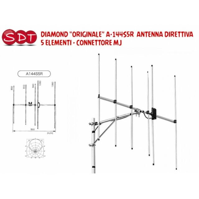 DIAMANT ORIGINAL A-144S5R ANTENNE DIRECTIVE 5 ÉLÉMENTS CONNECTEUR MJ