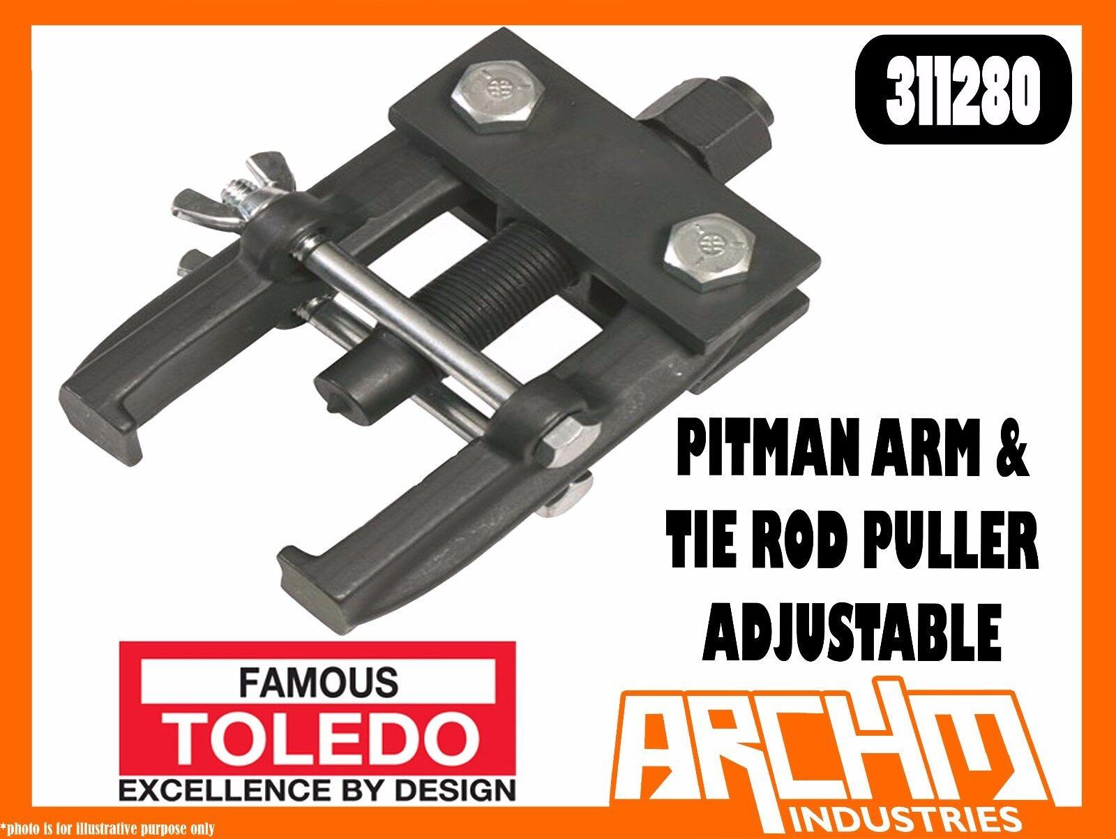 TOLEDO 311280 - PITMAN ARM & TIE ROD PULLER ADJUSTABLE - REMOVAL STEEL DURABLE