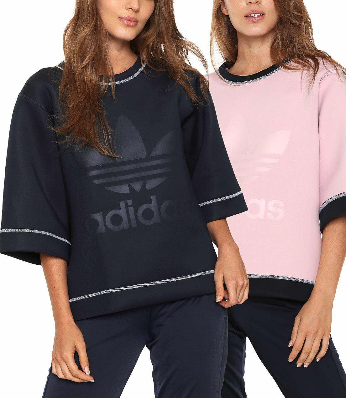 Adidas Originals Womens NMD Reversible Trefoil Logo Sweatshirt Top Neoprene Tee