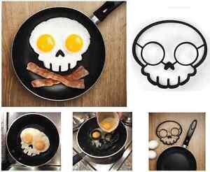 Halloween Fantaisie Crâne Oeuf Au Plat Poêle Moule Silicone Fête œuf