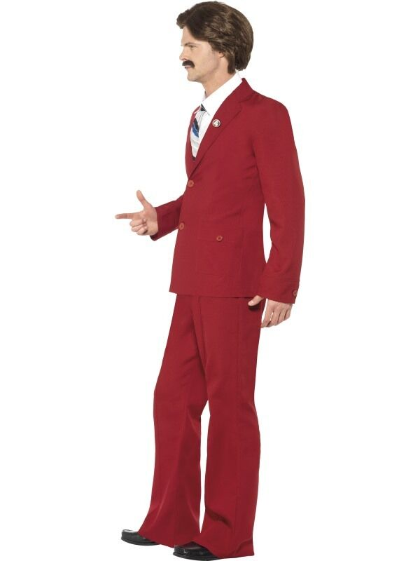 Mens Ron Burgundy Anchorman Anchorman Anchorman Fancy Dress Costume Legend Outfit by Smiffys New 590b63