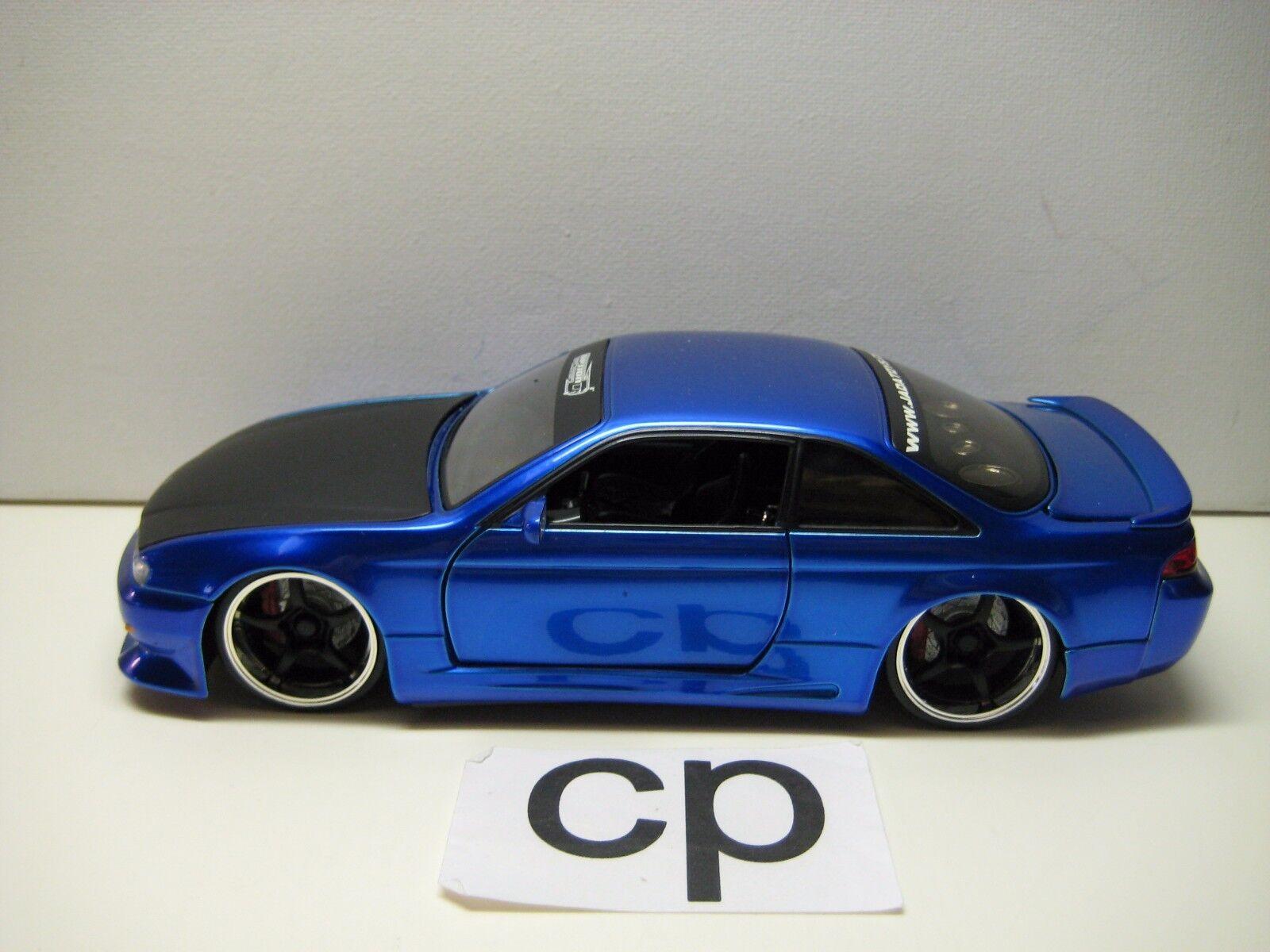 Jada option d 1998 nissan 240sx s 14 24 blaue autos jada spielzeug