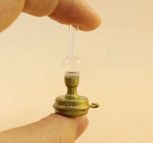 1:12 Aceite tradicional casa de muñecas en miniatura Luz Lámpara de queroseno Quemador de queroseno