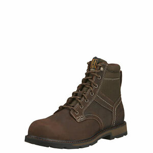 wholesale outlet really comfortable pretty cool MEN'S ARIAT LACE UP GROUNDBREAKER WORK BOOT H20 STEEL TOE 10016257 ...