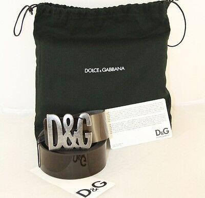 Ambizioso Lusso Dolce And Gabbana Cintura Dg Belt Lucentezza Nuovo New 95- Servizio Durevole