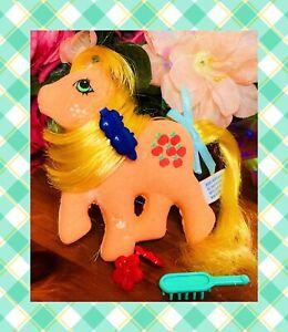 ❤️My Little Pony G1 MLP VTG Stickles Applejack Sticker 1985 AMTOY HASBRO RARE❤️