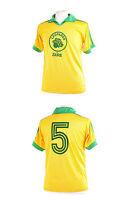Zaire Leopards Yellow 1974 World Cup Number 5 Football Shirt Xl