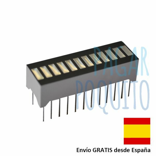 Display led 12 segmentos grafico de barra rojo Arduino prototipo electronica DIY