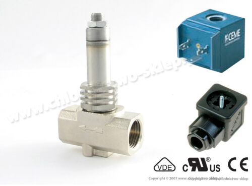 "12V 24V 110V 230V 50//60Hz 1//2/"" max 10 bar NC Solenoid valve CEME 9014 Steam"