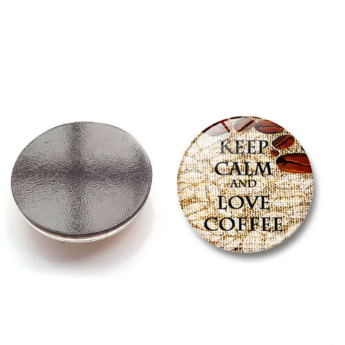 Fridge Magnet Glass Sticker Refrigerator KEEP CALM Home Decoration Craft Gifts