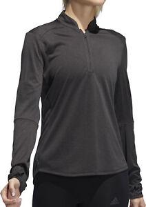 Details zu adidas Own The Run Half Zip Long Sleeve Womens Running Top Black
