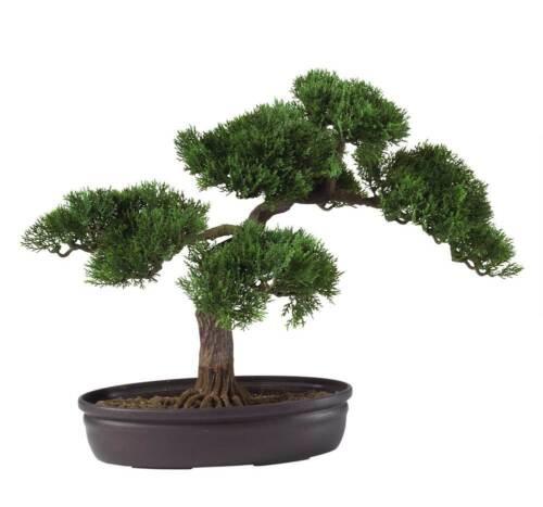 "ID 58747 16/"" Cedar Bonsai Silk Plant"