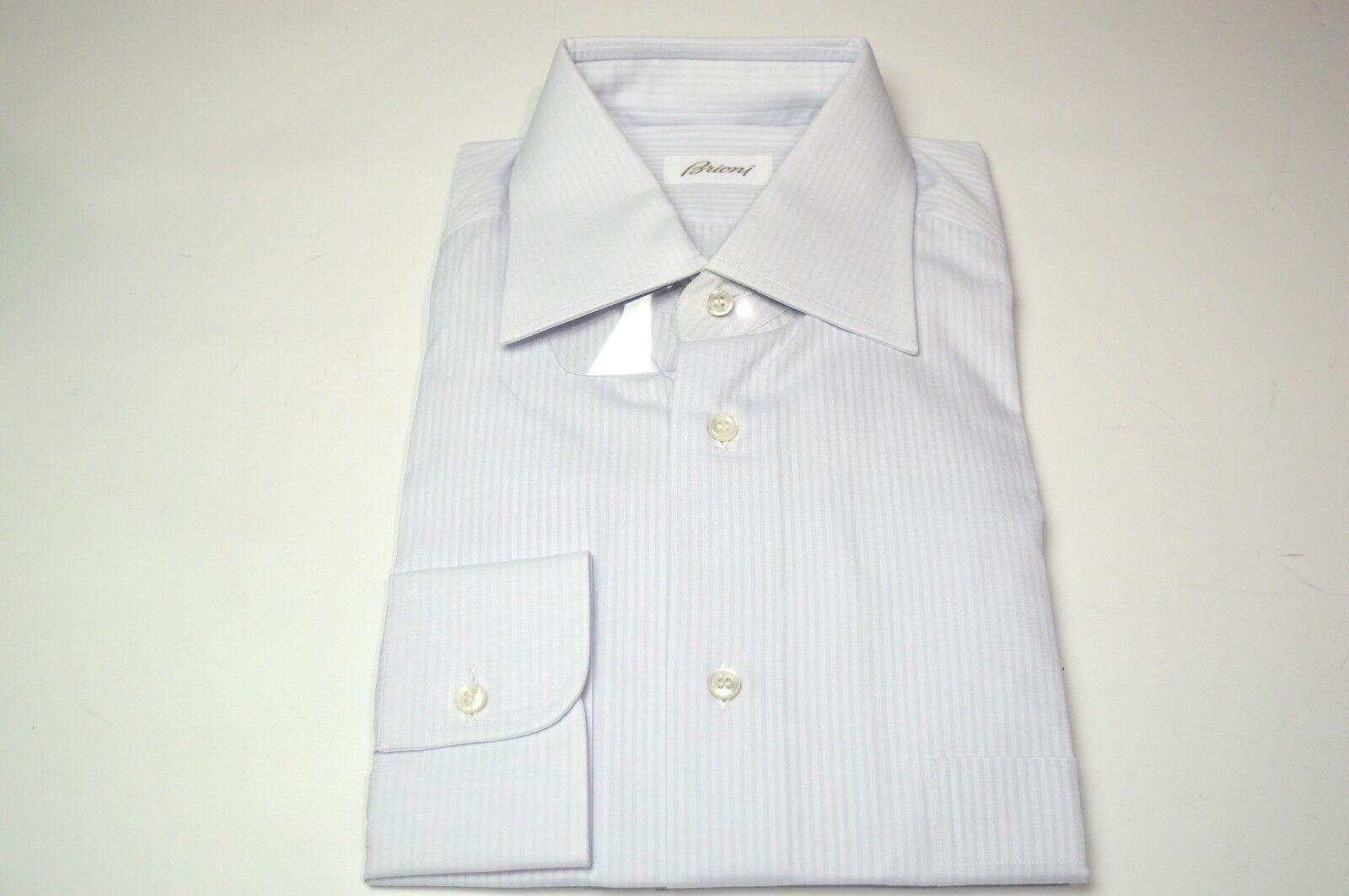NEW  BRIONI Dress  SHIRT 100% Cotton Größe 17.5 Us 44 Eu  (ARA44)