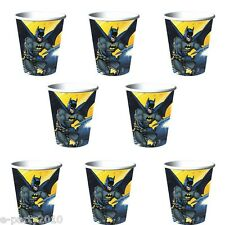 BATMAN 9oz PAPER CUPS (8) ~ Birthday Party Supplies Beverage Drinking Superhero