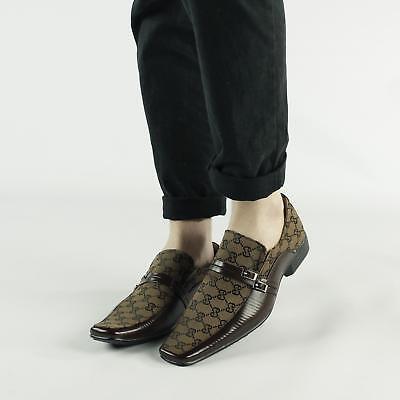 Mens Smart Formal Evening Dress Office Chisel Toe Slip On Loafers Shoes Slate