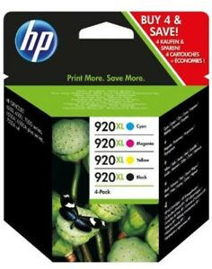 HP-920XL-Set-4-Yellow-Black-Magenta-Cyan-Ink-Cartridges-NEW-GENUINE