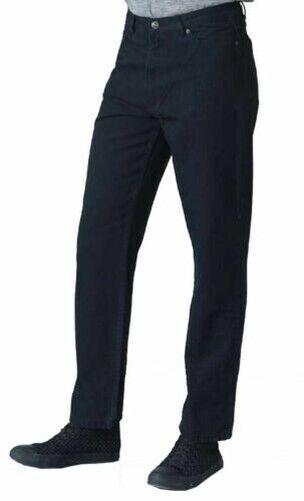 Men/'s Comfort Fit Enzyme Washed Black Jeans By Rockford