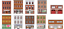 miniatuur 2 - 1:87 HO Scale Flat Front Buildings for Models and Dioramas - 20 Total