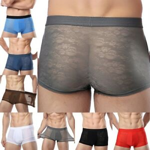257b299f873e Men's Ice Silk Underwear Breathable Ultra-thin Sexy Boxer Briefs ...