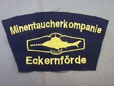 Bundesmarine Abzeichen Minentaucherkompanie Eckernförde mit Tätigkeitsabzeichen