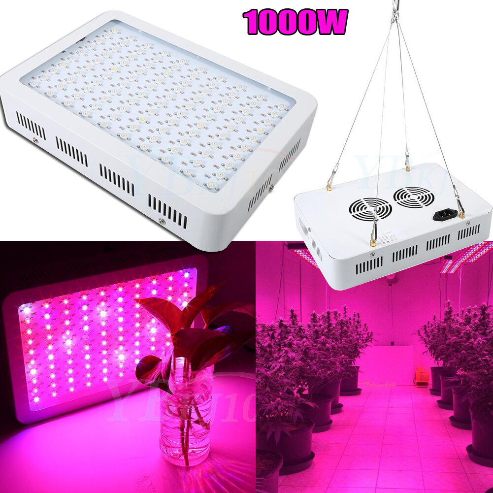 1000W Full Spectrum LED Plant Grow Light Veg Bloom Lamp Indoor verdehouse Garden