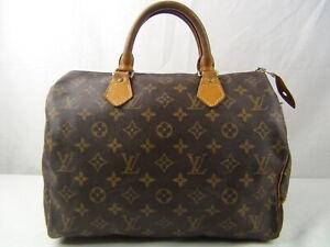 Us Seller Authentic Louis Vuitton Monogram Speedy 30 Hand Bag Good Lv Purse Ebay