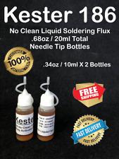 20ml 68oz Kester 186 Needle Tipped No Clean Liquid Rosin Flux Combo