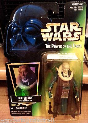 Bib Fortuna w Blaster 1996 STAR WARS Power of the Force POTF MOC