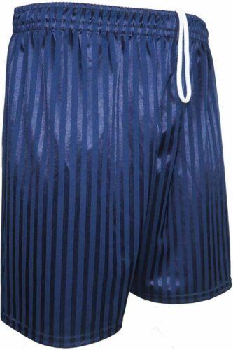 Unisex Boys Girls Kids Childrens School Sports Shadow Stripe PE Football Shorts