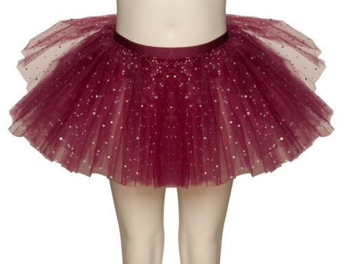 Burgundy Sparkly Sequin Dance Ballet Tutu Skirt Childs /& Ladies Sizes By Katz