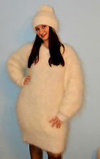 Mohair Angora Cashmere Wool Sweater Pullover goat Fur Down Fetish Sexy