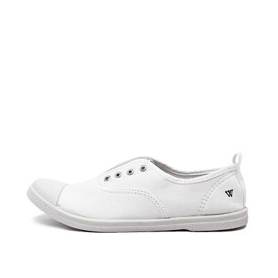 New Walnut Euro Plimsole White Womens Shoes Casual Shoes Flat