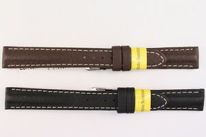 MORELLATO-Uhrenarmband-16mm-Kalbsleder-Schwarz-Braun-Water-resist-UVP-25