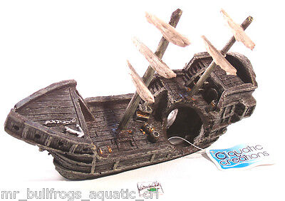 Sunken Gondola Ship-Wreck ~ aquarium ornament fish tank decoration