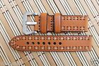 strap Band fits Panerai 20/22/24mm light brown leather strap and silver buckle