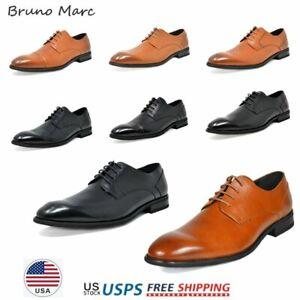 Bruno-Marc-Da-Uomo-Oxford-Scarpe-Vera-Pelle-Stringati-Scarpe-Casual-Abito-6-5-13