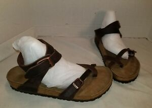 865f6ab8d682 Image is loading NEW-BIRKENSTOCK-YARA-OILED-HABANA-BROWN-LEATHER-SANDALS-