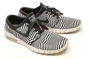 Nike-Air-SB-x-Stefan-Janoski-Max-QS-Mens-Shoes-13-034-Dazzle-034-Black-White-Trippy