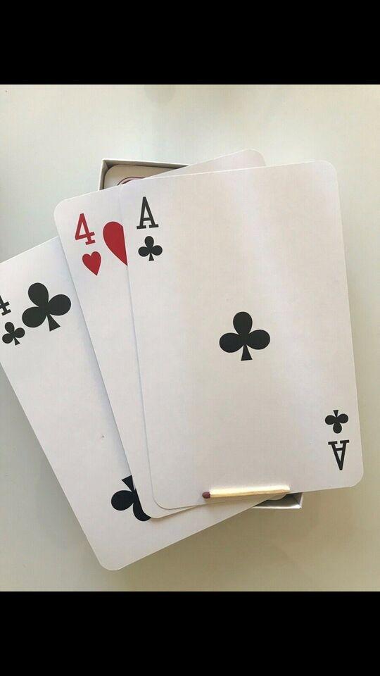 Spillekort, Gigantiske spillekort, kortspil