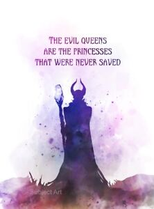 Details about ART PRINT Maleficent Quote 2, Sleeping Beauty, Wall Art,  Disney Gift, Fairy Tale