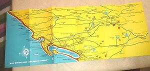 Vintage San Diego Map.Vintage Pamphlet Cartoon Map San Diego County By Frye Smith