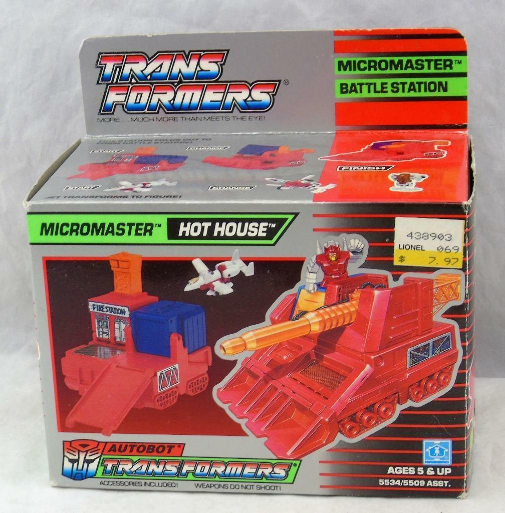 Transformers Original G1 198 Micromaster caliente House completare w scatola Unused